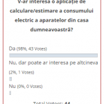 Sondaj aplicație de estimare a consumului de curent electric